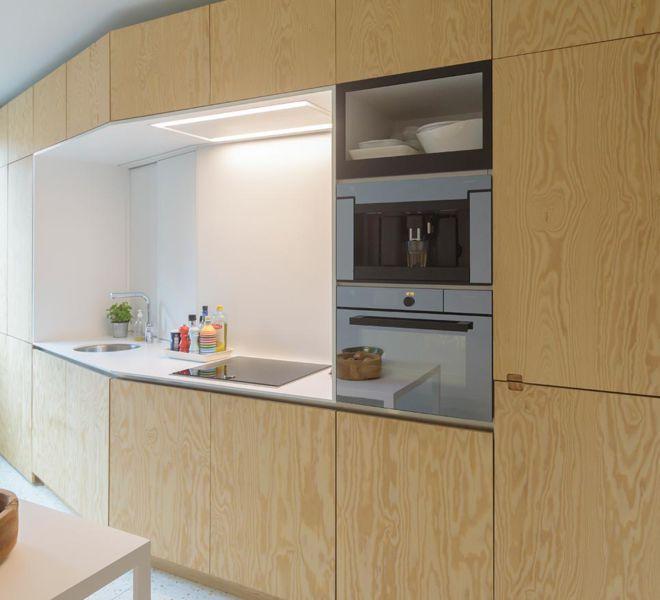 interieurproject - houten keuken