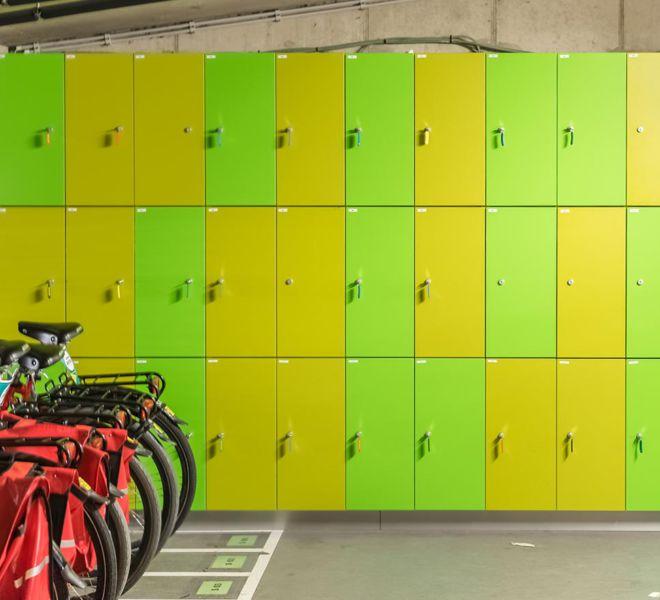 kasten op maat locker fietsenberging