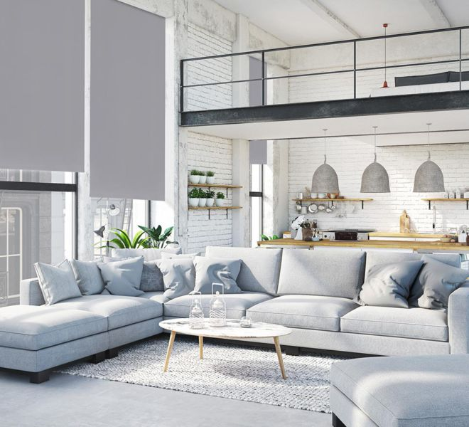 raamdecoratie -ruime woonkamer