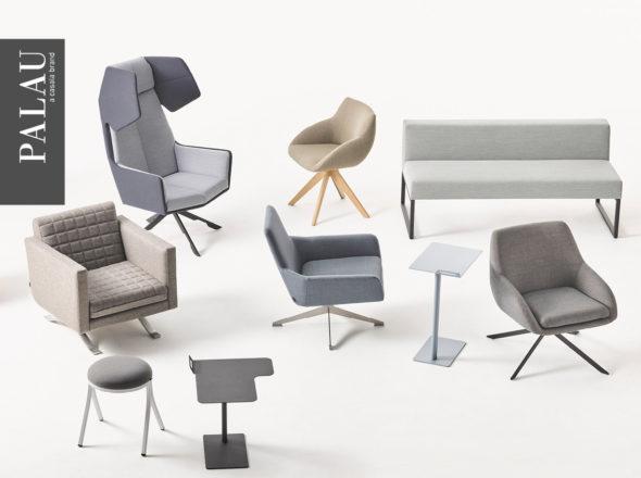 loungemeubilair wachtmeubilair bijzetzeteltje bijzettafeltje centraal onderstel akoestische zetel in hoogte verstelbaar bekleding in wol