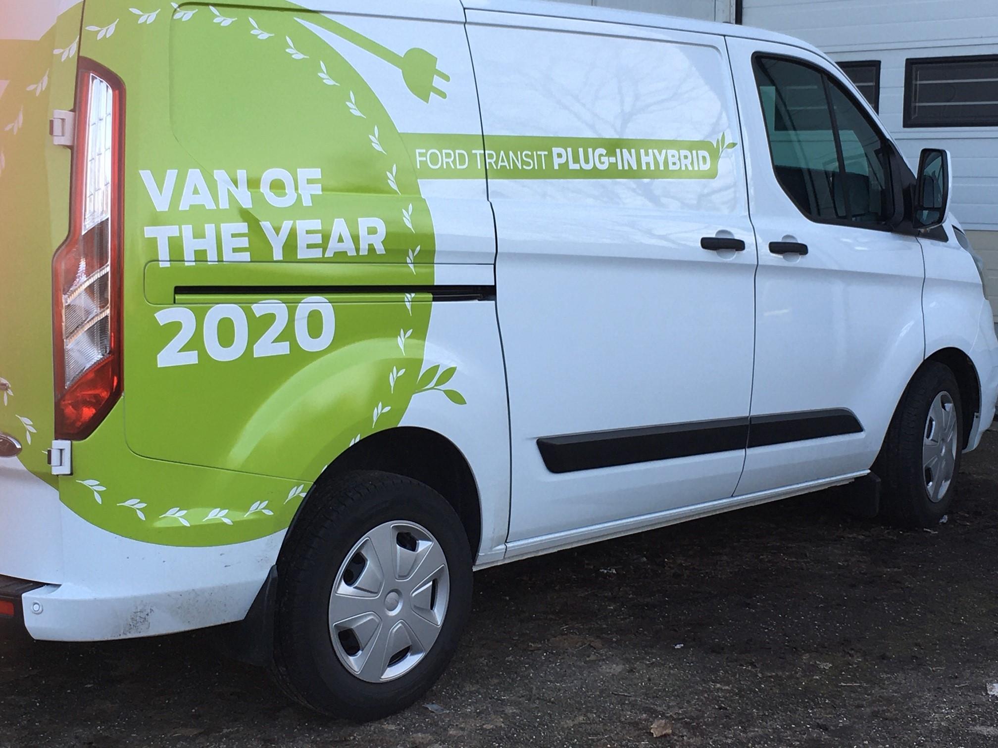 Celdekor werfvoertuigen Ford Transit Plug-in hybride